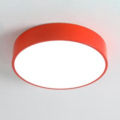 Minimalist Acrylic Flush Light with Drum Shade LED Ceiling Fixture for Nursing Room Corridor