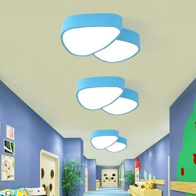 Contemporary Mushroom Ceiling Lamp Kindergarten Game Room Acrylic LED Flush Mount in White