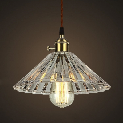 Industrial Decorative Pendant Light 9.84 Inches Width Ceiling Fixture for Cafe