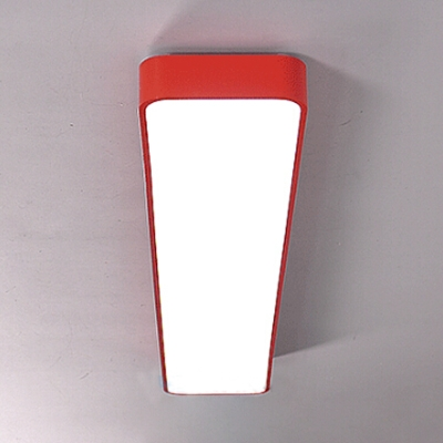 1 Head Rectangle LED Ceiling Lamp Simplicity Colorful Nursing Room Acrylic LED Flush Mount