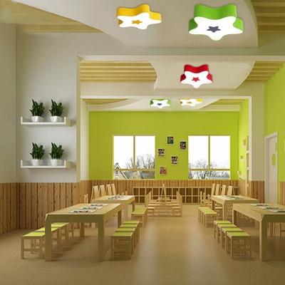 Acrylic Star LED Flushmount Modernism Nursing Room Flush Ceiling Light in Warm/White/Third Gear