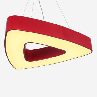 Acrylic Triangle Ceiling Pendant Lamp Modern Chic Nursing Room Suspended Lamp in Blue/Black/Green/Red