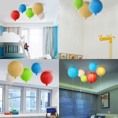Acrylic LED Flush Light with Balloon Contemporary Ceiling Fixture for Children Kids Bedroom