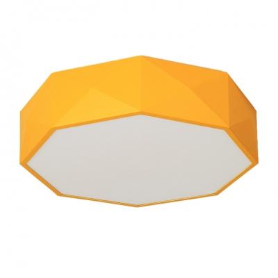 Acrylic Polygon LED Flushmount Macaron Nordic Children Living Room Flush Ceiling Light