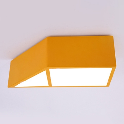 Cute Geometric LED Flush Mount Modern Colorful Kindergarten Kids Room Acrylic Ceiling Light