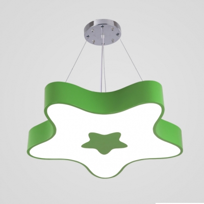 Cute Star Hanging Ceiling Lamp Kindergarten Kids Room Acrylic Pendant Lamp in Warm/White/Third Gear