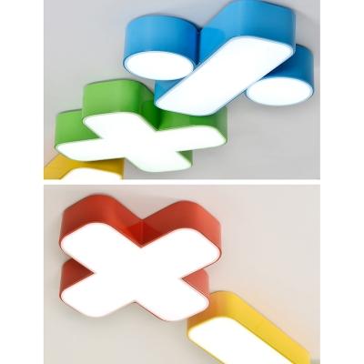 Plus/Minus/Multiply/Divide Flushmount Contemporary Kindergarten Acrylic Decorative LED Lighting Fixture