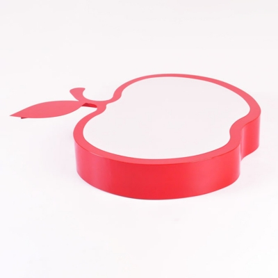 Green/Red Apple Shade Ceiling Fixture Acrylic LED Flush Mount Lighting for Nursing Room