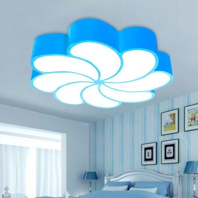 Metallic Flower Shape Ceiling Lamp Modern Chic Girls Room Nursing Room LED Flush Mount Lighting
