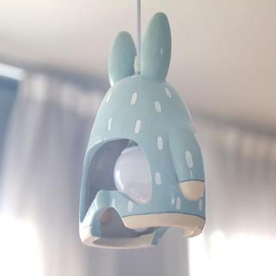 Gypsum Cartoon Cat/Rabbit Suspended Lamp Animals&Insects Baby Children Room 1/3 Light Lighting Fixture