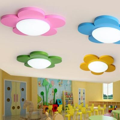 Floral LED Flushmount Colorful Simple Acrylic Ceiling Light for Children Room Kindergarten