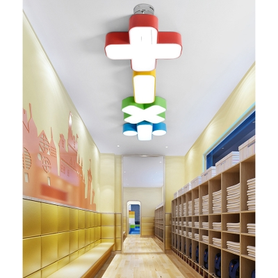 Adorable Acrylic Pendant Lamp with Plus/Minus/Multiply/Divide Colorful Modernism LED Suspension Light for Nursing Room