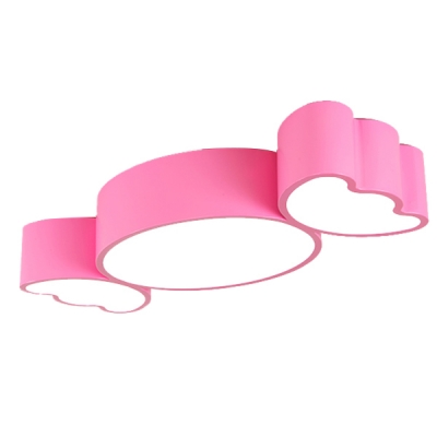 Sweet Candy Shape Ceiling Fixture Colorful Girls Room Acrylic LED Flush Light in White