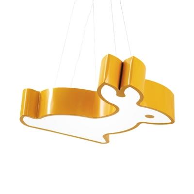 Acrylic Hanging Lamp with Bear/Kangaroo Colorful Modern LED Pendant Lighting for Baby Kids