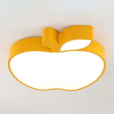 Adorable Apple Flush Light Fixture Modernism Children Baby Room Acrylic LED Ceiling Lamp
