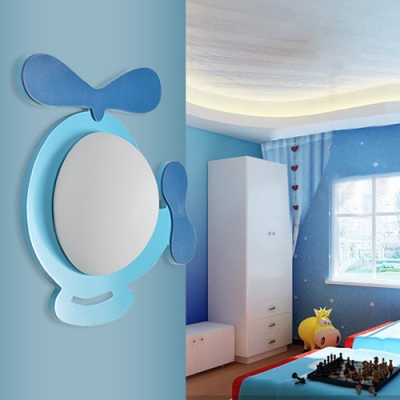 Frosted Glass Bowl Sconce Light Amusement Park Single Light LED Wall Lamp in Blue/Yellow/Purple