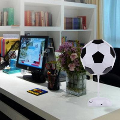 Plastic Football Shape Table Lamp Boys Bedroom Amusement Park LED Table Lighting in White
