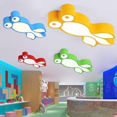 Lovely Fish Shape Ceiling Light Kids Bedroom Acrylic Led Flush Light