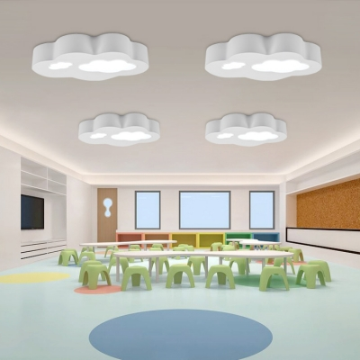 Single Head Cloud Design Ceiling Light Boys Girls Room Acrylic
