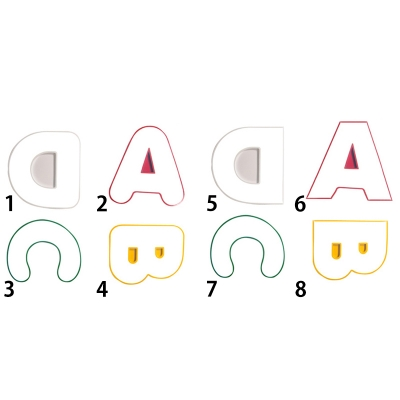 Cute ABCD's Hanging Lamp Modern Chic Kindergarten Acrylic LED Suspension Light in Blue/Pink/Yellow/Red