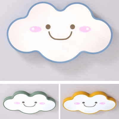 Lovely Cloud LED Flush Light Simple Modern Game Room Nursing Room Acrylic Ceiling Fixture
