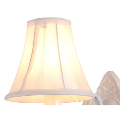 Country 1 Light Wall Light Crystal Light Shaded Wall Sconce with Crystal Balls