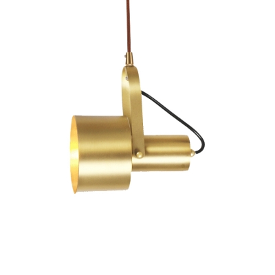Industrial Style Hanging Spotlight in Burnished Brass for Store Restaurant 2 Sizes for Option