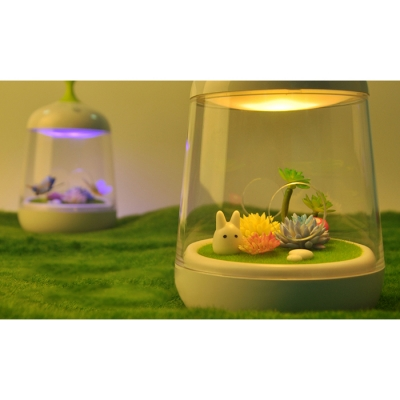 Rechargeable Plastic Color Changing Micro Botany LED Night Light 2 Styles for Option
