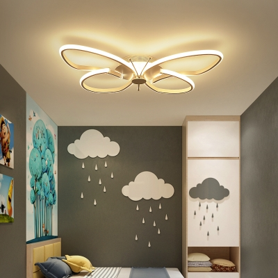 Small Size Kids Room Led Ceiling Light in Butterfly Shape