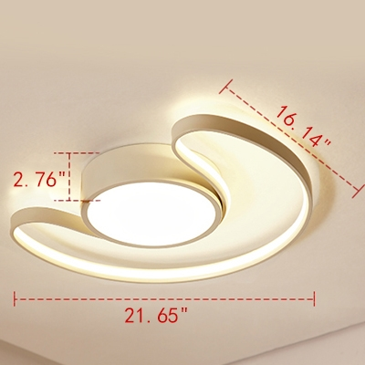 Unique Arched Moon LED Ceiling Light for Living Room/Bedroom