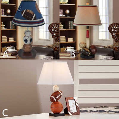 Sports Theme Tapered Table Light Fabric Single Light Decorative ...
