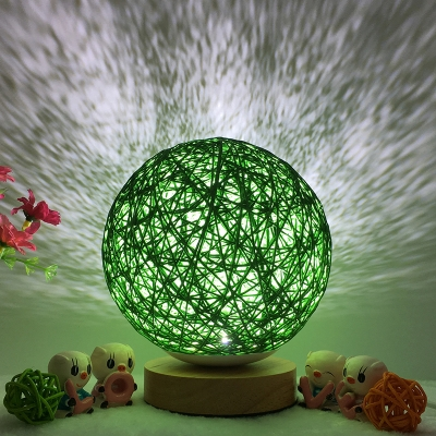 Chargeable Button/Dimmer Switch Globe Projector Night Light 8 Colors for Option