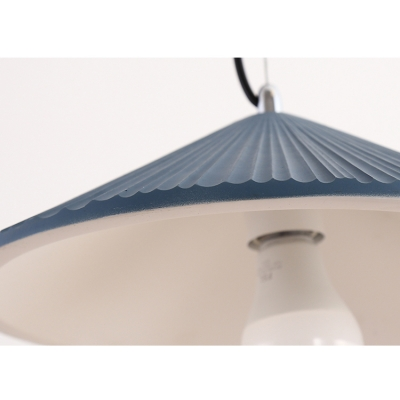 1 Light Simple Style Mini Pendant with Pleated Ceramic Shade (White/Blue/Green)