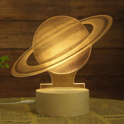 Decorative Creative 3D Effect Acrylic Globe/Ferris Wheel/Merry-Go-Round/Outerspace Night Light