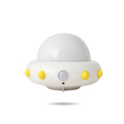 Dimmable Spaceship Plug-in/Motion-Sensor LED Kids Night Light 4 Colors Available