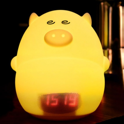 Lovely Pig LED Kids Sleeping Night Light with 24 Hour Digital Timer USB Rechargeable