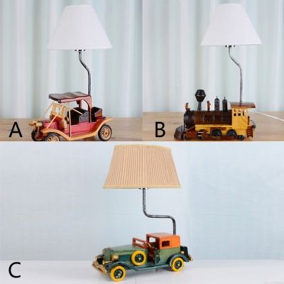 Retro Style Transportation Table Lamp Fabric 1 Head Standing Table ...