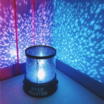 Portable Sparkling Moon and Star Night Light Projector for Girls Bedroom