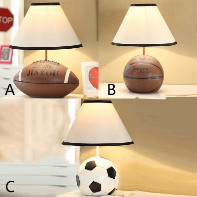 Indoor Led Bedroom Living Room Sport Table Lamp With Fabric Shade, 14.96