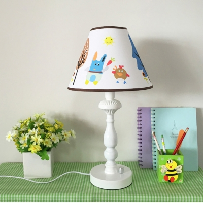 Cartoon Design 1 Light Reading Light Animals&Insects White Finish Acrylic Plug In Standing Table Light for Kids