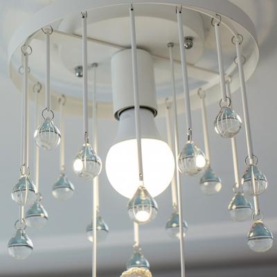 Kids Bedroom Lighting Flush Mount Crystal Chandelier Swing Crystal Balls Flushmount Light