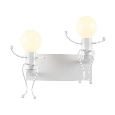 Nordic Style Metal Seesaw 2-Bulb Wall Light
