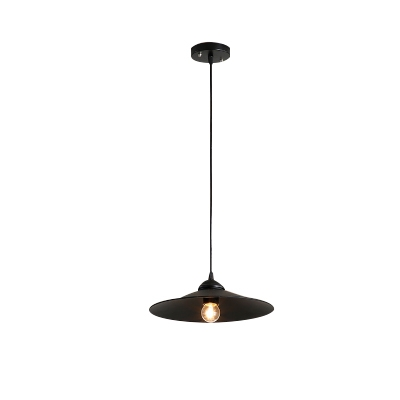 Bare Bulb Dining Room Single Head Pendant Light in Satin Black Finish 11.81