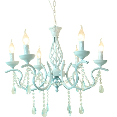 Contemporary Lighting 6/8 Light Kid Girls Ceiling Chandelier Crystal Tadpoles Chandelier Light