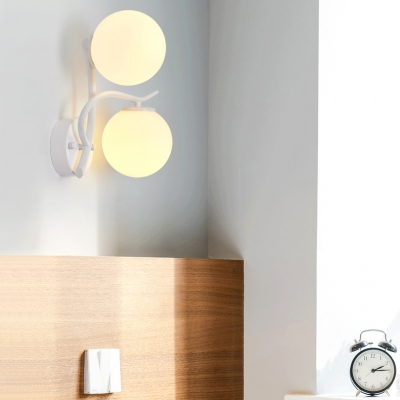 Modern Style 2 Light Globe Wall Lighting