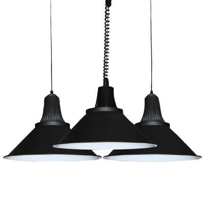 Baycheer / Simple Style One Light Hanging Pendant Lamp in Satin Black Finish 6 Sizes for Option