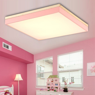 Square Macaroon LED Flush Mount Ceiling Light for Bedroom Living ...