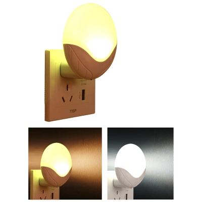 Led Plug-In Night Light in Round Shape White Light