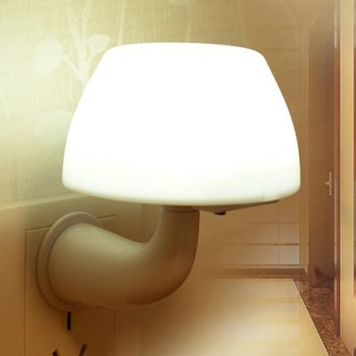 Plug-in Light/Voice/Remote Control Mushroom Mini Wall Night Light for Corridor Stairway