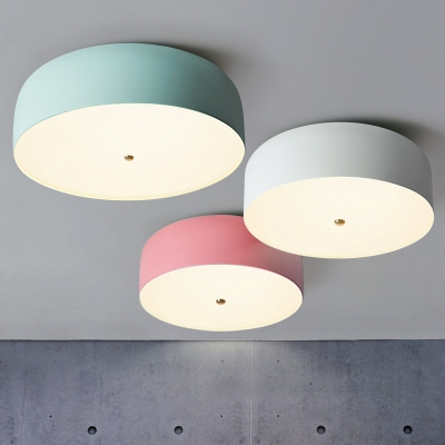 Macaron Simple Dome Ceiling Fixture Metallic Ceiling Flush
